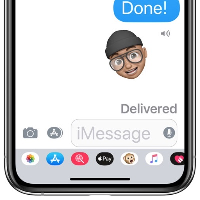 Larger text in Messages.