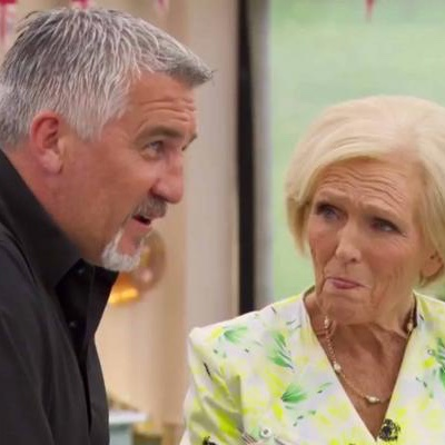 Paul and Mary judging a bake.