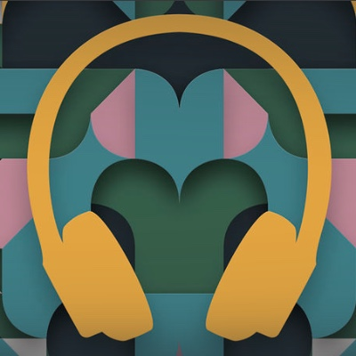 Apple's headphone artwork for the free audiobooks feature.