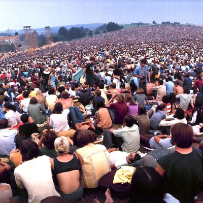 The crowd at Woodstock.