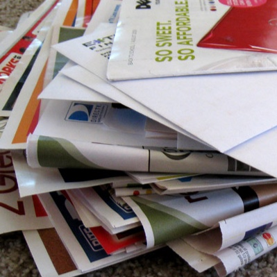 A big pile of junk mail.