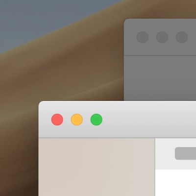 The corner of a macOS window with the window behind it dimmed.